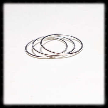 Sterling Silver 1mm Stacking Ring