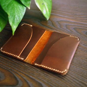 CRAZY HORSE Leather Wallet/Bifold wallet/Thin leather wallet/Peasonalized Wallet/Custom Wallet/Wallet with Initial/Best Gift