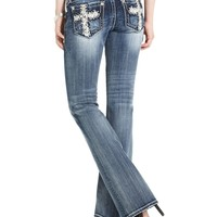 Miss Me Jeans, Bootcut-Leg Studded, Medium Wash - Jeans - Women - Macy's