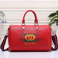 Gucci Women Fashion Leather Luggage Travel Bags Tote Handbag