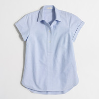 Factory short-sleeve oxford popover shirt