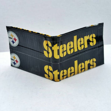 Pittsburgh Steelers Duct Tape Wallet - Bifold - Black and Yellow