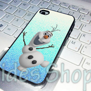 olaf disney frozen glitter photo case iphone 4 case, iphone 5 case, iphone 5s case, iphone 5c case, samsung galaxy case, ipod case
