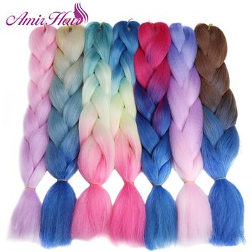 Synthetic Hair 24'' 100g African Braiding Hair Style Crochet Hair Extensions 1Packs/Lot