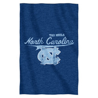 UNC Collegiate Sweatshirt Throw
