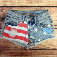 STARS AND STRIPES FOREVER GIRLS SHORTS