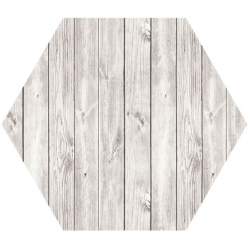 Wood I Hex Wall Decal