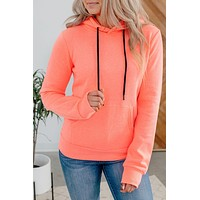 On The Go Hoodie- Neon Coral(XS-XL)