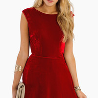 Red Sleeveless Backless Flare Dress - Sheinside.com