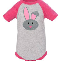 Easter Bunny Shirt, Kids Rabbit One Piece, Raglan Shirt, Kids Farm Birthday, Animal Tshirts for Boys, Ladies Bunny Outfit, Cute Rabbit Shirt