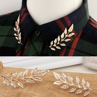 Follow us to get 50% discount on Tuesday sales! Vintage Brooches Collar Pins Ginkgo Biloba Leaf Lapel Pin Color Brooch Pins