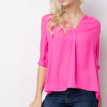 Core Blouse Hot Pink
