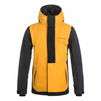 Quiksilver Boy's Ambition Snow Jacket Cadmium Yellow 12