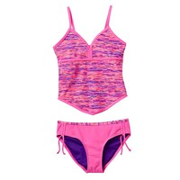 Free Country Stripe 2-pc. Tankini Swimsuit Set - Girls