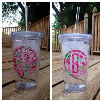 Lilly Pulitzer Starbucks Inspired Tumbler