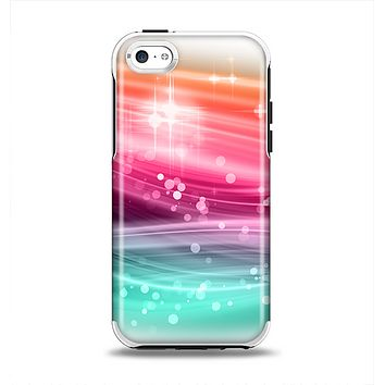 The Vibrant Multicolored Abstract Swirls Apple iPhone 5c Otterbox Symmetry Case Skin Set