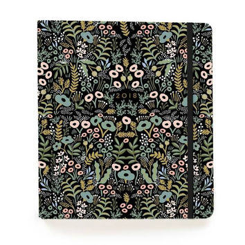 2018 17-Month Covered Spiral Bound Planner - Tapestry