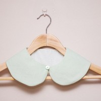 Peter Pan Collar - Detachable Peter Pan Collar In Mint Green | Luulla