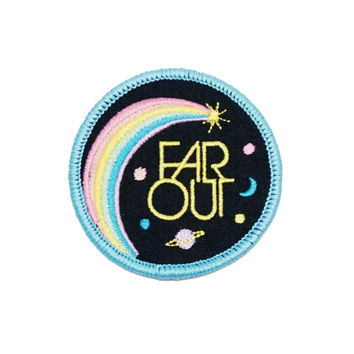 Far Out Embroidered Patch
