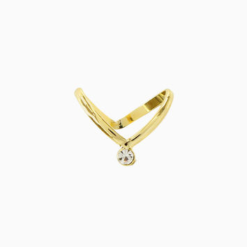 Gold Pointed Midi Ring