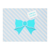 Trendy Bow Fleece Blanket