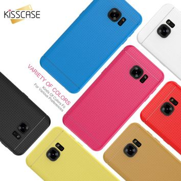 KISSCASE Phone Cases For iPhone 5 5s 6 6s Plus 7 7 Plus Honeycomb Dot Style Luxury Soft Silicone  Back Cover For Samsung S6 S7