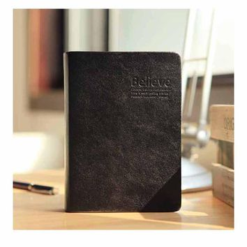 RuiZe bible book blank page thick notebook vintage leather journal note book gold edge office school supplies stationery