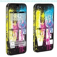 Apple iPhone 4 or 4s Full Body Vinyl Decal Protection Skin Love Paint:Amazon:Cell Phones & Accessories