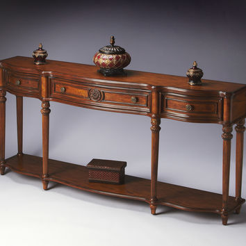 Masterpiece Hand-carved Acanthus Leaf Console Table
