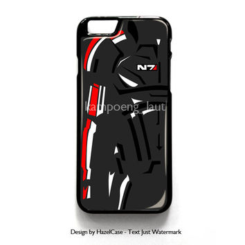 Mass Effect N7 2 for iPhone 4 4S 5 5S 5C 6 6 Plus , iPod Touch 4 5  , Samsung Galaxy S3 S4 S5 Note 3 Note 4 , and HTC One X M7 M8 Case Cover