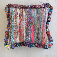 Recycled Fabric Cushion With Fringe