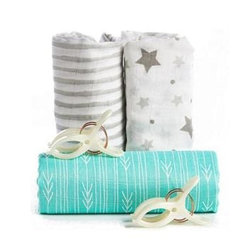 Muslin Baby Swaddle Wrap Blankets - Bag towel Category - 100% Bamboo Fiber