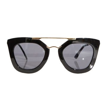 Anya Black and Gold Sunglasses