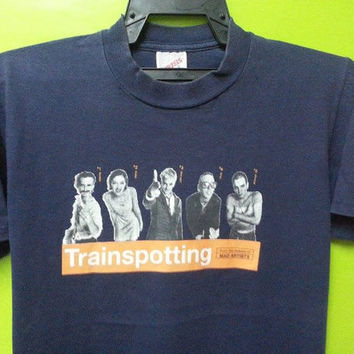 Sale Vintage 1990s Trainspotting Skin Head Movie Punk Hooligan T Shirt