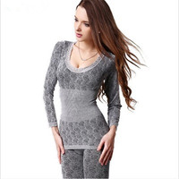 2016 spring winter new women's fashion casual Pyjamas suits / female warm round neck long sleeve sleeo tops+johns pajama sets