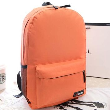 Student Backpack Children DOLOVE Fashionable Women's Backpack Candy Colored Student Backpack One - Shoulder Canvas School Bag With Large Capacity Bag AT_49_3