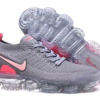 DCCK2 N330 Nike Air Vapormax Flyknit 2 Casual Running Shoes Grey Pink