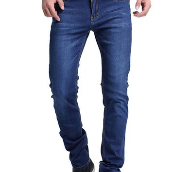 Men's Classic Denim Blue Jeans