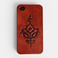 Western Rose iPhone 4/4s Case In Tan