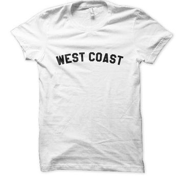 West coast tshirt tee california women's clothing text tee west coast california tshirt golden youth apparel