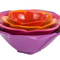 Zak Designs 4-Piece Rose Condiment Bowl Set