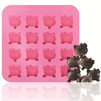 pink Hello Kitty silicone chocolate mold - Bento Accessories - Bento Boxes