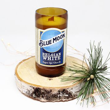Blue Moon Beer Candle