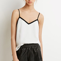 Contrast Trim V-Neck Cami