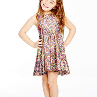 Kids Multi Glitter Skater Dress