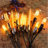 40W 220V Home LED Light Edison Bulb Filament Light Bulbs Vintage Retro Antique Industrial Style Lamp Bulb T30-185 Tungsten Bulb E27 Globe Edison Light [9145130566]
