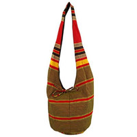 Ugandan Red And Yellow Stripe Celebration Tote Bag
