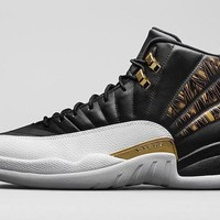 Air Jordan Retro 12 Wings Men Basketball Shoes 12s Wings Discolor Gold 12s Master Spor