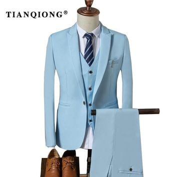 TIAN QIONG Suit Men  Autumn Slim Fit Wedding Suits