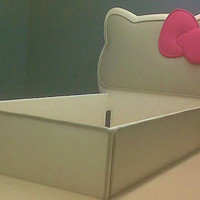Hello Kitty Inspired Toddler Bed by cribsmart on Etsy